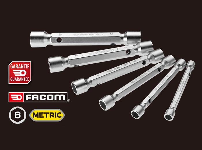 FACOM(ファコム):6Pc.メトリック ダブルエンドソケットレンチセット 8-19mm
